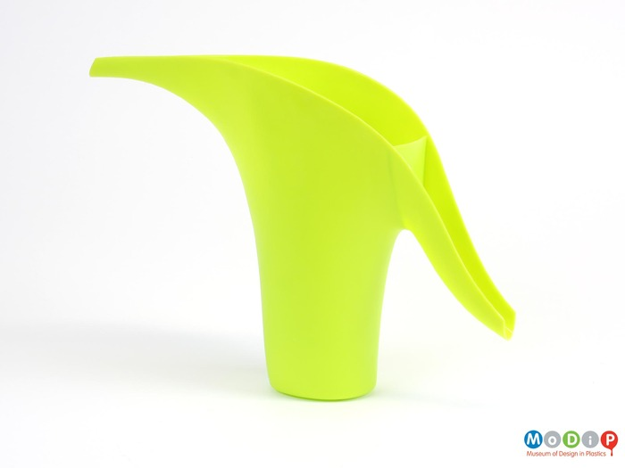 Bright green watering can