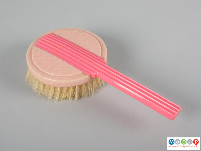 Pink hair brush